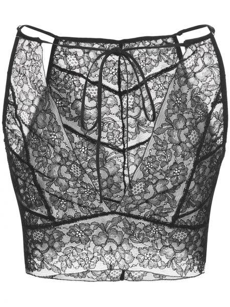 Лаковый черный бралетт Kiki De Montparnasse