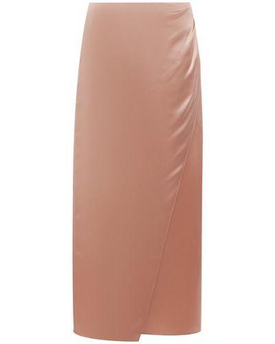 Шелковая розовая юбка Vince.