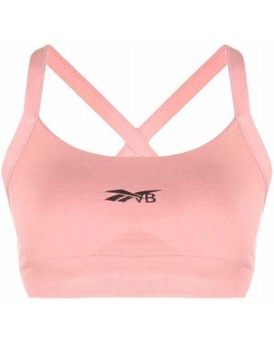 Спортивный бюстгальтер - розовый Reebok X Victoria Beckham