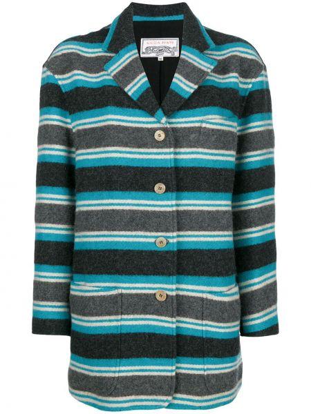 Коралловое шерстяное пальто классическое с капюшоном Krizia Pre-owned