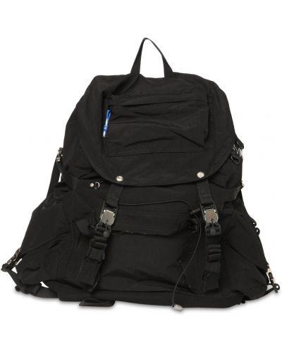 Czarny plecak z klamrą z kieszeniami Ader Error