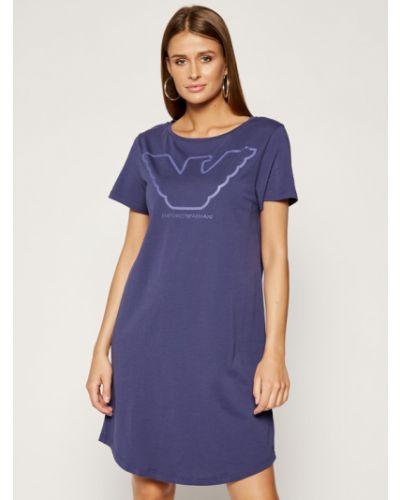 Fioletowa koszula nocna Emporio Armani Underwear