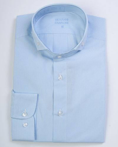 Рубашка хлопковая голубой Giovanni Fabroni