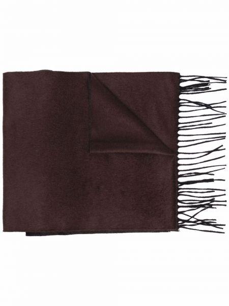 Коричневый шелковый шарф Corneliani