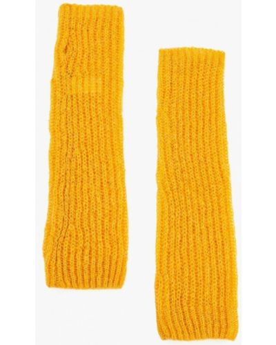Желтые митенки United Colors Of Benetton