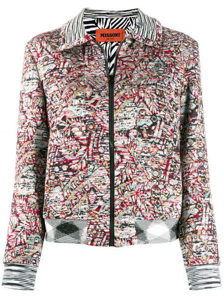 Шерстяной черный пиджак с карманами Missoni