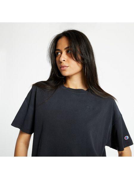 Черная футболка Champion