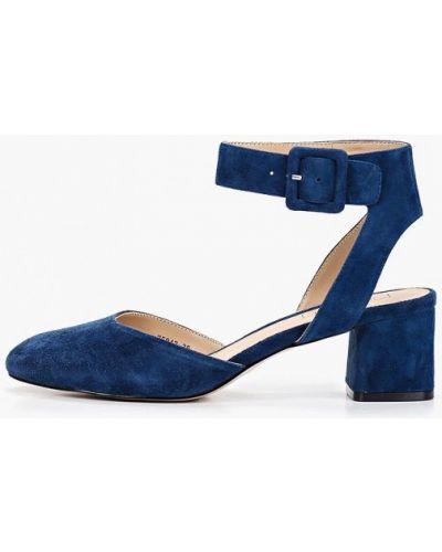 Туфли на каблуке замшевые синий Antonio Biaggi