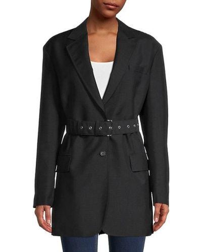 С рукавами черная длинная куртка байкерская Prada