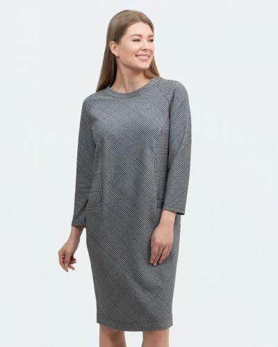 Прямое повседневное платье с карманами с вырезом с рукавом реглан Vis-a-vis
