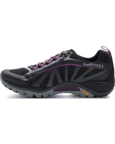 Кожаные полуботинки черные на шнуровке Merrell