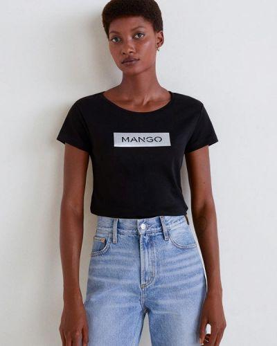 Черная футболка 2019 Mango