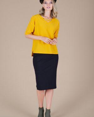 Блузка из вискозы с разрезом Eliseeva Olesya
