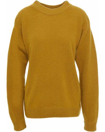 Желтый шерстяной свитер винтажный American Vintage
