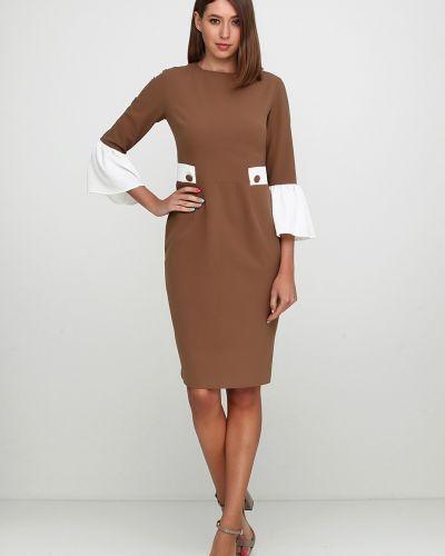 Приталенное платье миди - бежевое Кристина Мамедова