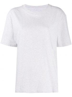 Свободная серая футболка с круглым вырезом свободного кроя T By Alexander Wang