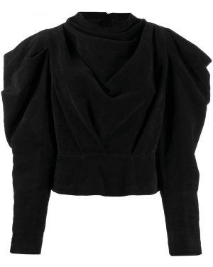 Czarna bluzka z długimi rękawami Isabel Marant