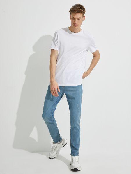 Хлопковые джинсы с карманами на молнии Koton