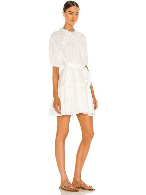 Biała sukienka mini bawełniana Cleobella