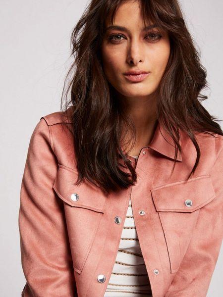 Кожаная розовая кожаная куртка Morgan