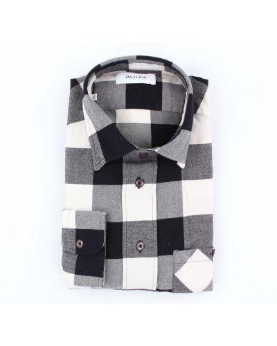 Koszula z długimi rękawami na co dzień zapinane na guziki Aglini