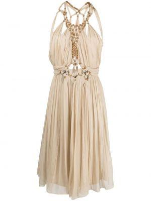 Шифоновое платье миди Alberta Ferretti