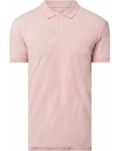 T-shirt bawełniana - różowa Esprit
