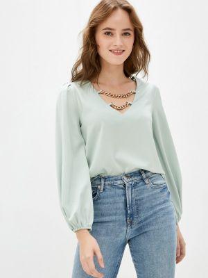 Бирюзовая блузка осенняя Softy
