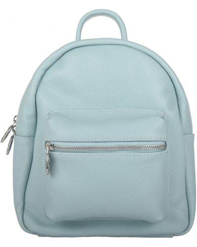 Кожаный рюкзак - бирюзовый Sara Burglar