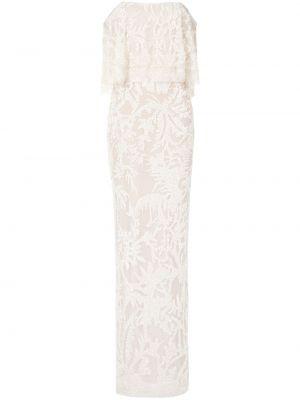 Шелковое платье макси - белое Elie Saab