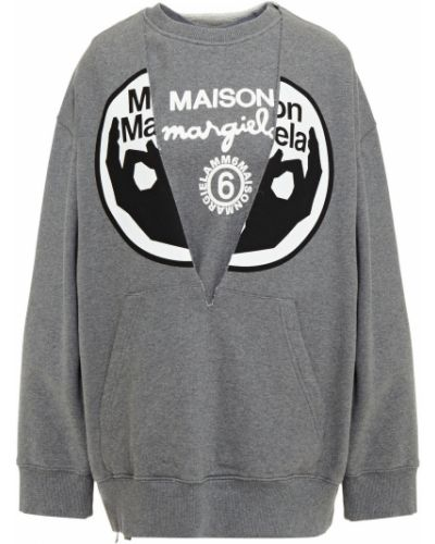 Szara bluza dresowa bawełniana Mm6 Maison Margiela