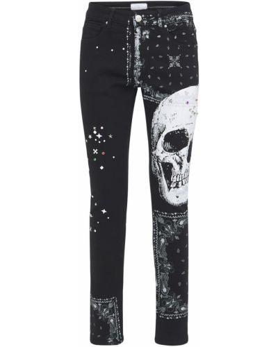 Czarne jeansy z printem Lifted Anchors