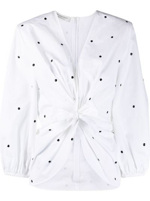 Блузка в горошек - белая Philosophy Di Lorenzo Serafini