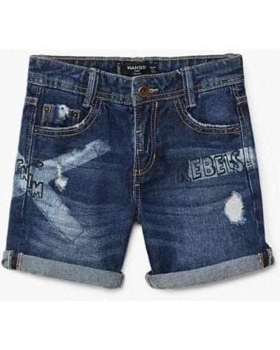 Синие шорты джинсовые Mango Kids