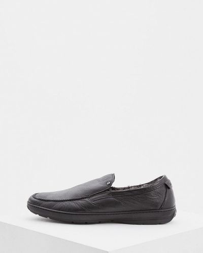Черные мокасины кожаные Aldo Brue