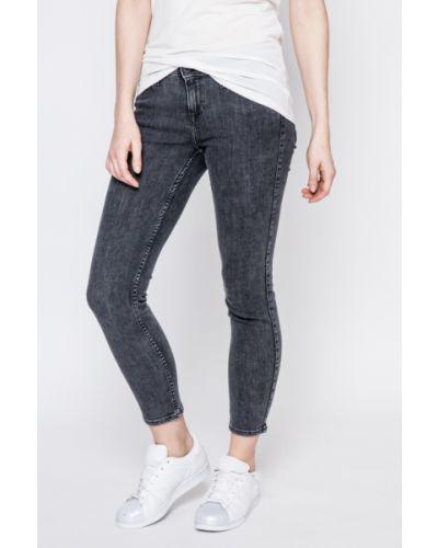 Серые джинсы-скинни Lee