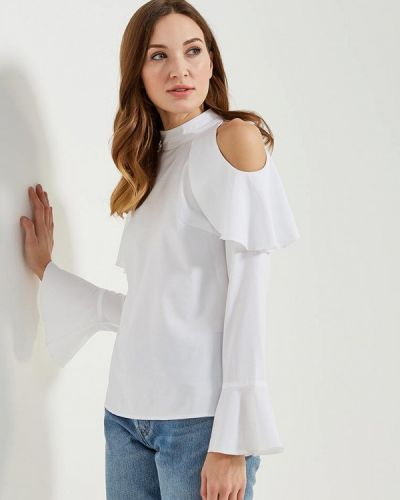 Белая блузка с рюшами Vittoria Vicci
