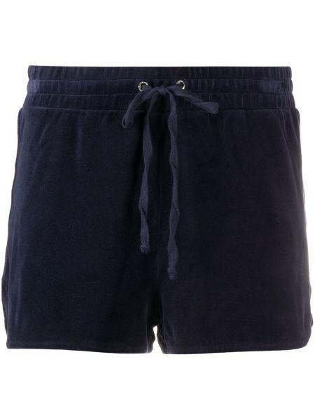 Ватные синие хлопковые шорты Juicy Couture