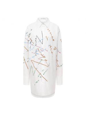 Хлопковая блузка - белая Jw Anderson