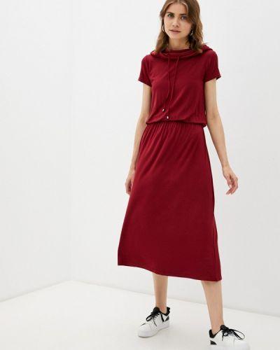 Повседневное бордовое платье мадам т