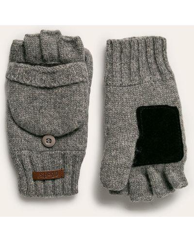 Rękawiczki z jednym palcem wełniany szary Barts