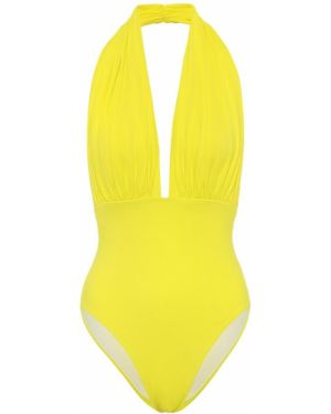 Нейлоновый желтый купальник для бассейна Norma Kamali