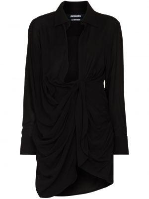 Черный шерстяной халат Jacquemus