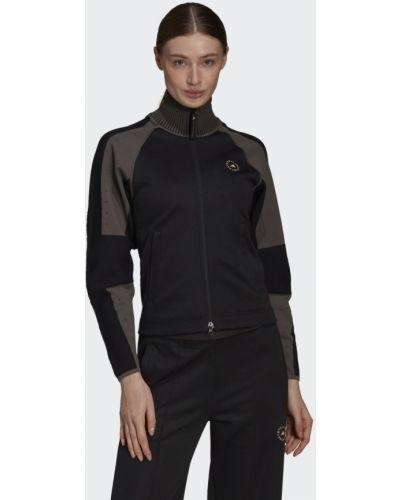 Черная олимпийка для фитнеса Adidas