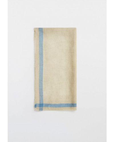 Бежевый платок Massimo Dutti