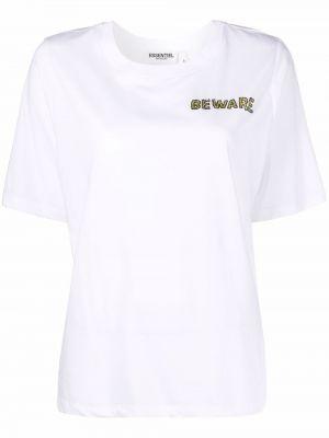 Хлопковая футболка - белая Essentiel Antwerp