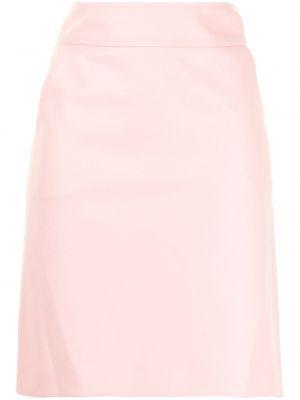 Шерстяная юбка миди - розовая Paule Ka