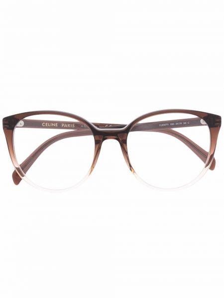 Коричневые футляр для очков Céline Eyewear