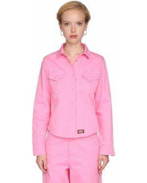 Джинсовая рубашка в полоску под запонки Marc Jacobs