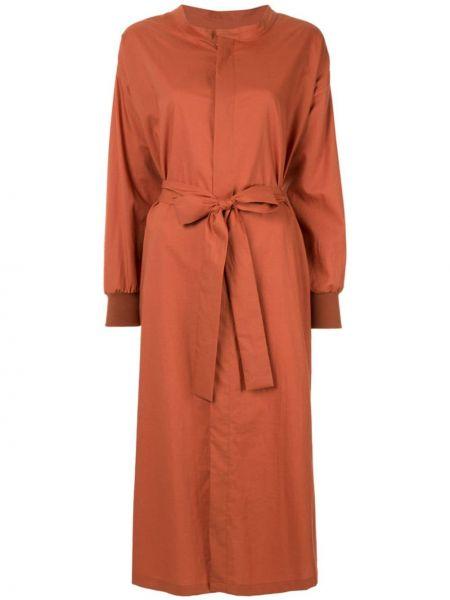 Терракотовое платье с вырезом Frei Ea